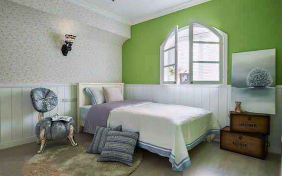 卧室床田园风格装修效果图