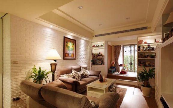 田园风格70平米三室两厅新房装修效果图