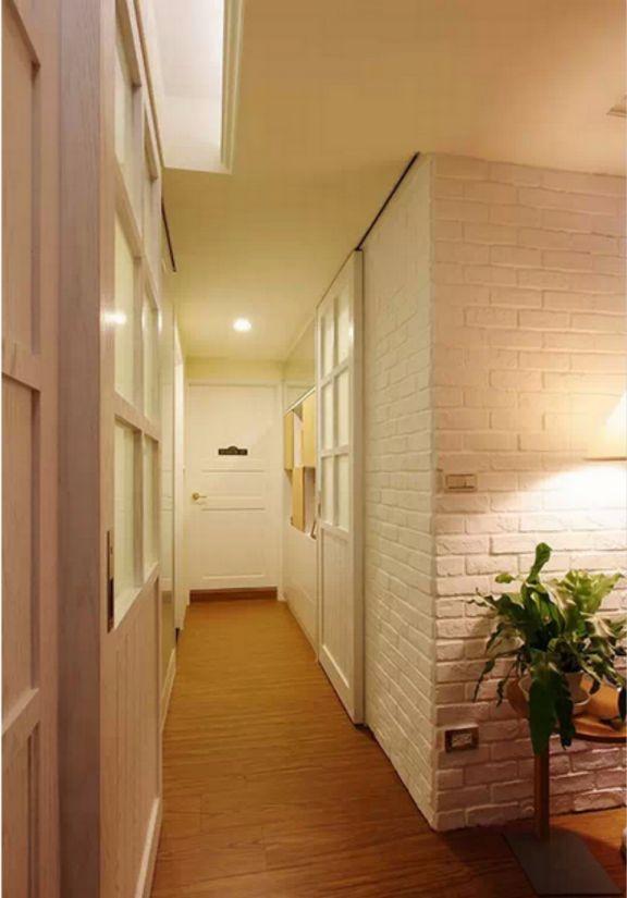 客厅走廊田园风格装潢设计图片