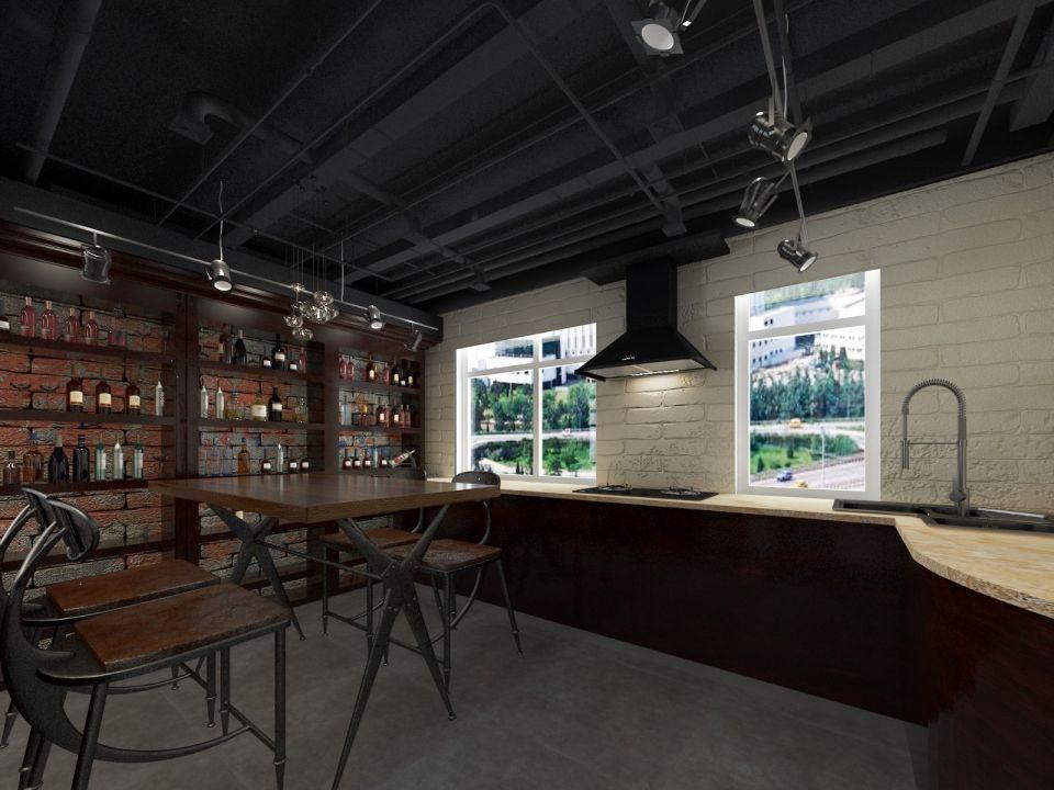 餐厅地砖后现代风格效果图