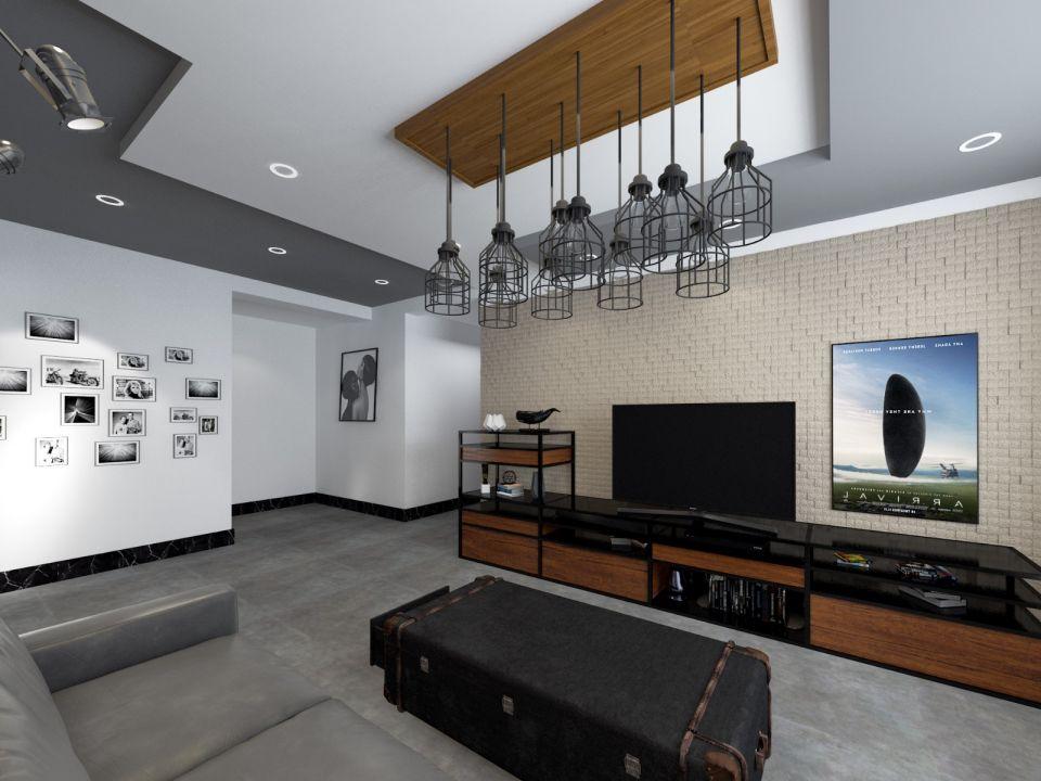 客厅电视柜后现代风格装修效果图