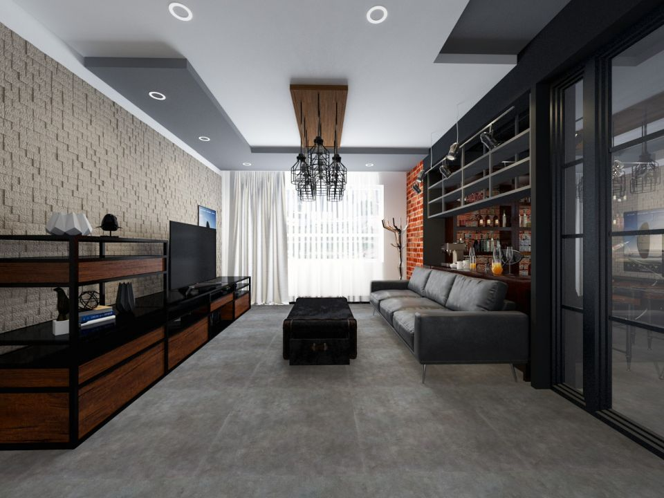 客厅细节后现代风格装饰效果图
