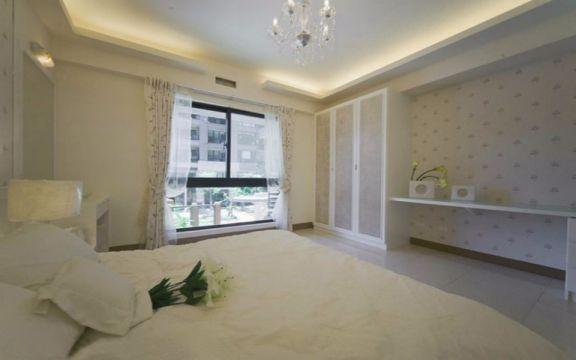 卧室窗帘田园风格装饰图片