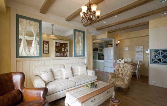 客厅沙发田园风格装饰图片