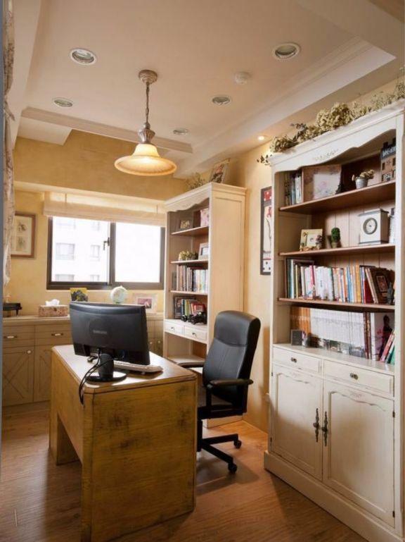 书房书桌田园风格装饰设计图片