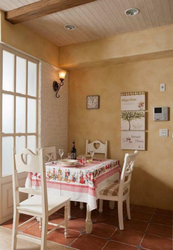 餐厅餐桌田园风格装潢设计图片