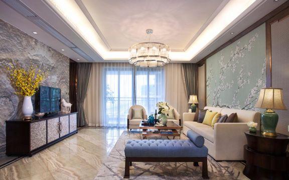 金穗花园混搭风格90平方三居室装修效果图