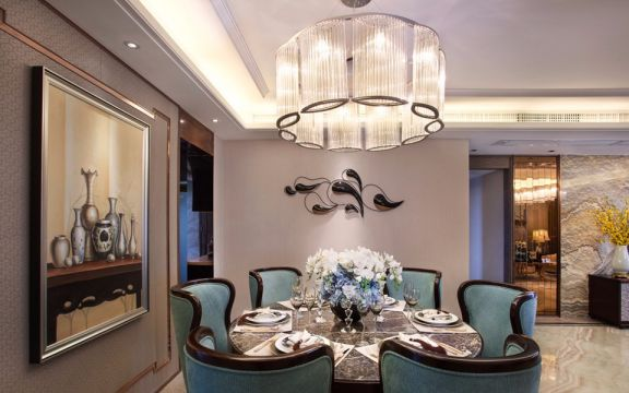 餐厅餐桌混搭风格装饰图片