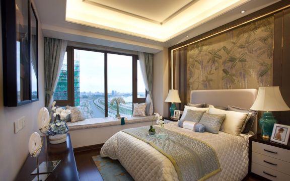 卧室床混搭风格装修设计图片
