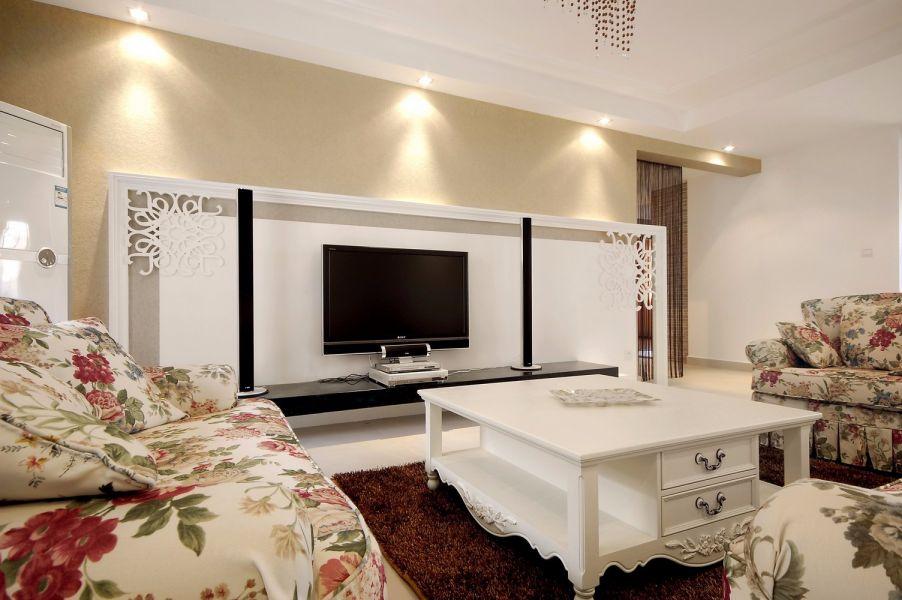 滨湖顺园88平简欧风格三居室装修效果图