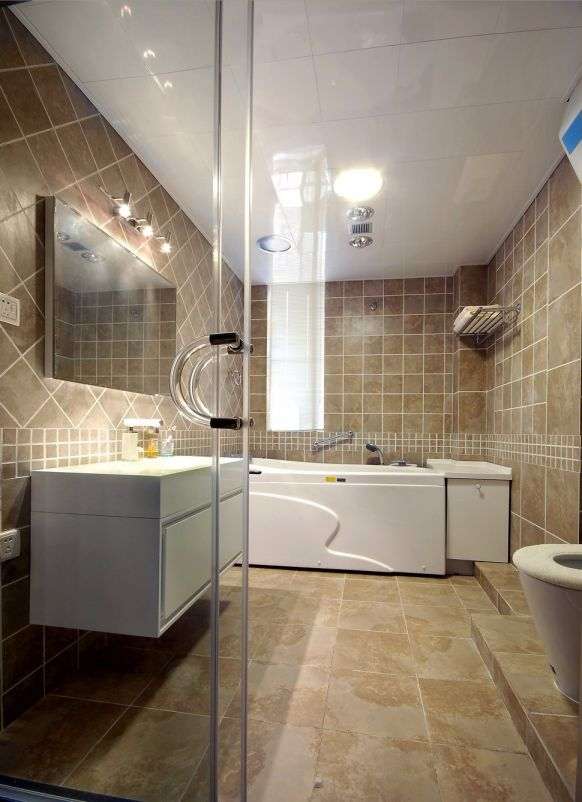 卫生间地砖简欧风格装修图片