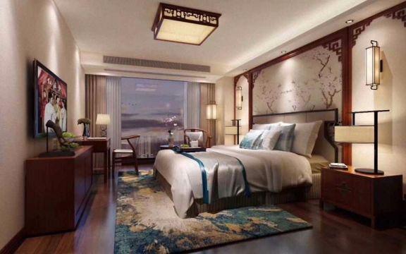 卧室电视柜中式风格装饰设计图片