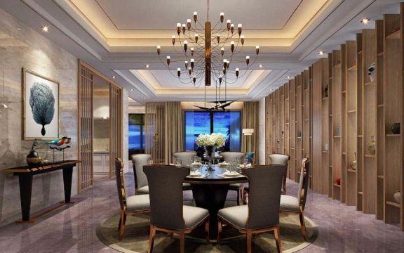 餐厅吊顶现代中式风格装修图片
