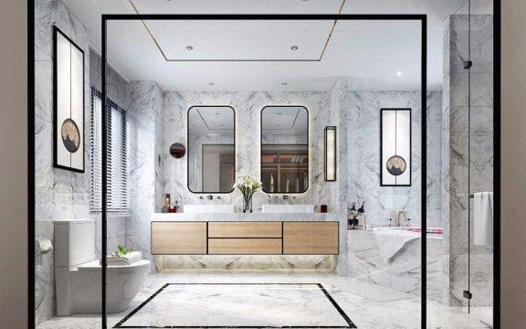 卫生间洗漱台现代中式风格装修设计图片