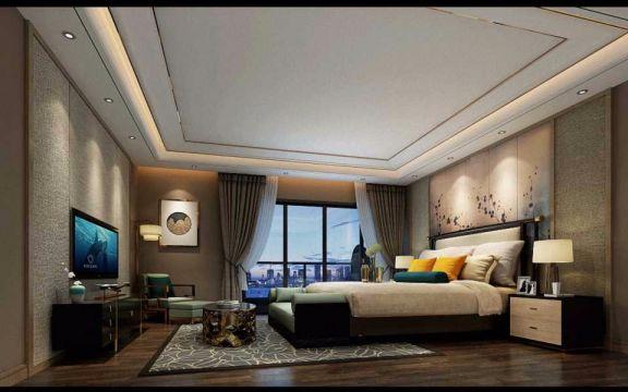 卧室床现代中式风格装饰设计图片
