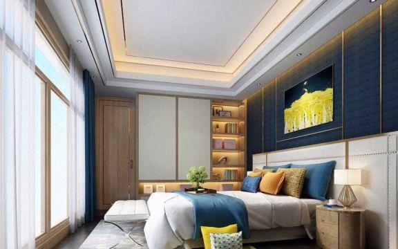 卧室吊顶现代中式风格装潢设计图片