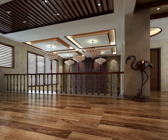 阳光房走廊中式风格装饰图片