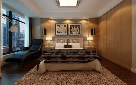 国际花都110平米三室两厅一卫港式现代装修效果图
