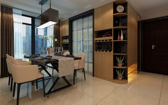 餐厅餐桌现代风格装饰效果图