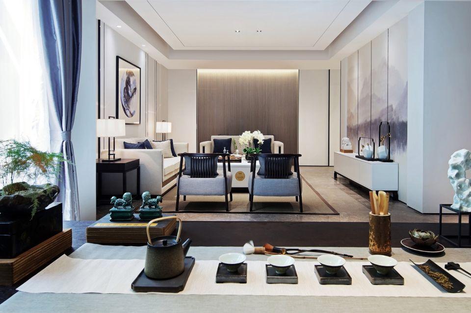 新中式风格150平米套房新房装修效果图
