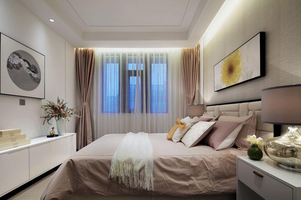 卧室白色床新中式风格装修效果图