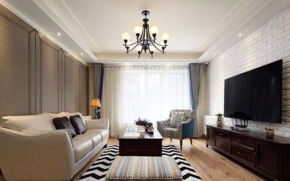 金地天逸110平米现代简约风格三居装修效果图