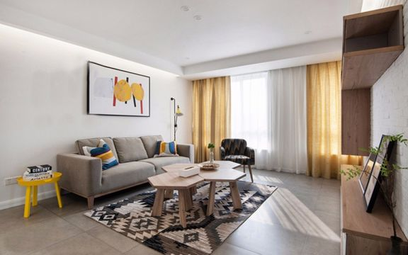 现代风格122平米三室两厅新房装修效果图