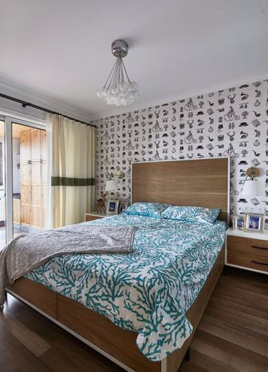 卧室床混搭风格装饰设计图片