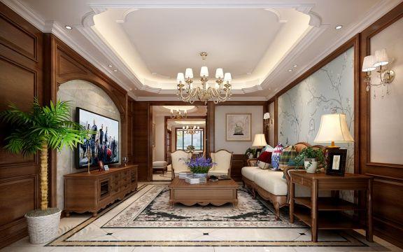 美式风格209平米四室两厅新房装修效果图