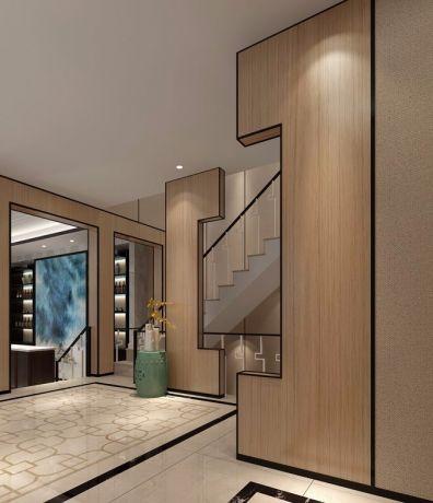 玄关地砖新中式风格装饰图片