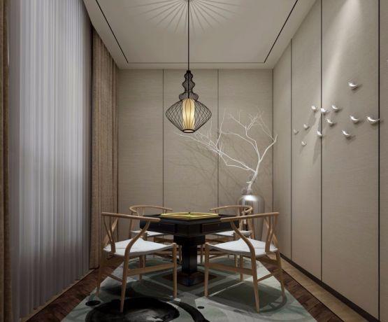 起居室窗帘新中式风格装饰效果图