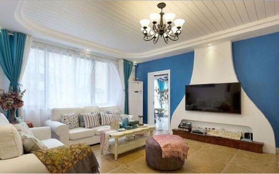 2019地中海110平米装修设计 2019地中海三居室装修设计图片