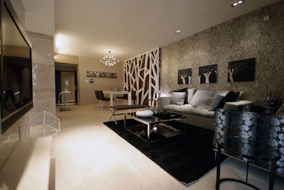 现代简约风格180平米四室两厅新房装修效果图