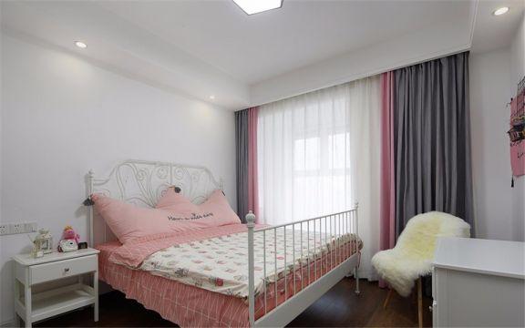 卧室窗帘北欧风格装潢图片