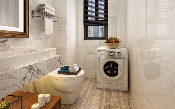 卫生间地砖中式风格装修图片