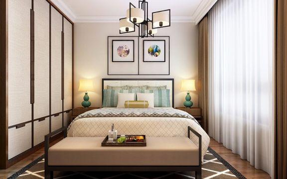 卧室衣柜中式风格装潢设计图片