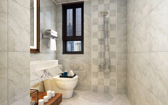 卫生间地砖中式风格装修效果图