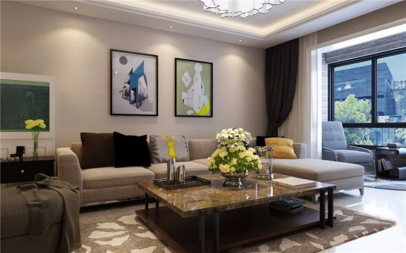 客厅茶几现代简约风格装饰设计图片