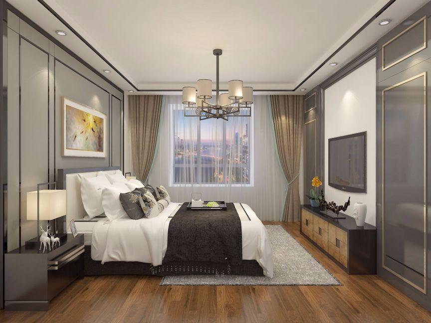 卧室床头柜中式风格装修效果图