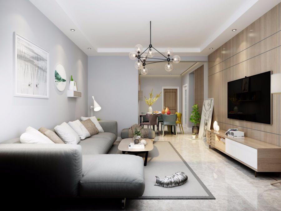 客厅沙发北欧风格效果图