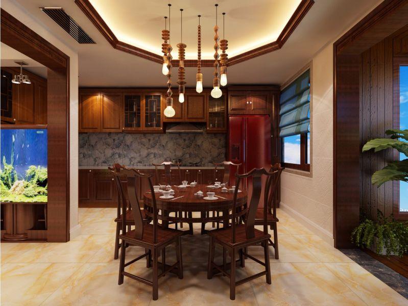 餐厅餐桌中式风格装饰设计图片