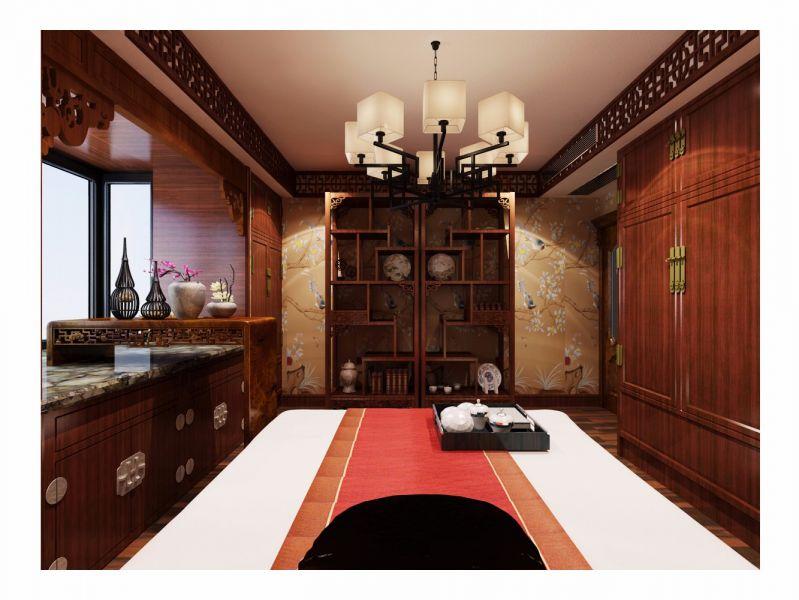 卧室博古架中式风格装饰效果图