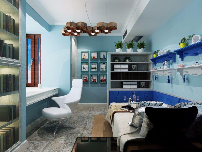 卧室照片墙中式风格装潢图片