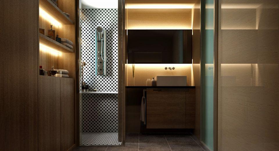 卫生间洗漱台新中式风格装修设计图片