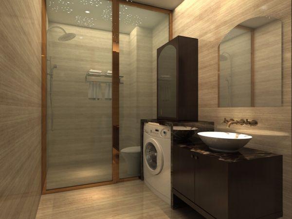 卫生间洗漱台中式风格装饰设计图片