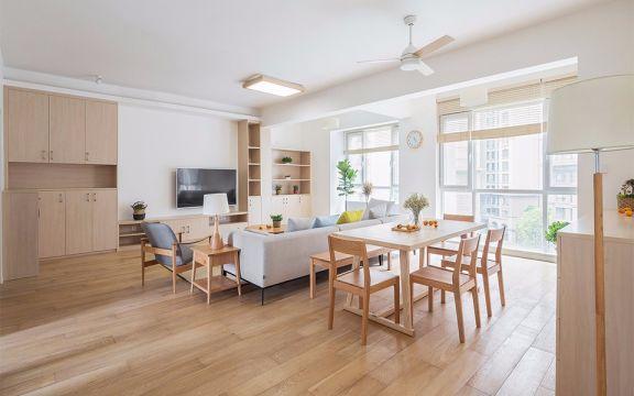 日式风格120平米三室一厅新房装修效果图