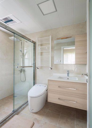 卫生间洗漱台日式风格装潢效果图