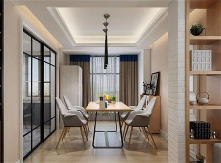 简约风格132平米三室两厅新房装修效果图