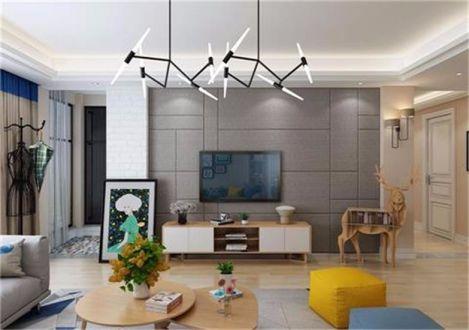 客厅电视柜简约风格装潢图片
