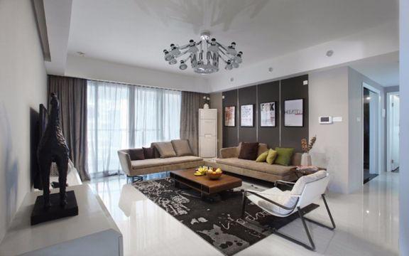 现代简约风格109平米四室两厅新房装修效果图